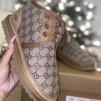UGG new GG letter embroidery men's and women's snow boots Shoes