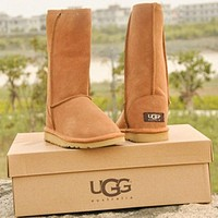 UGG women's warm high-top snow boots shoes