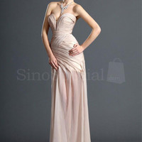 Pearl Pink Sweetheart Neckline Sweep Train Chiffon Prom Dress from SinoSpecial