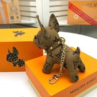 lv - LOUIS VUITTON New Arrival Cute Lovely Dog Key Chain Holder Car Pendant