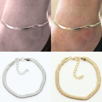 Metal Chain Fine Fish Scale Anklet Silver Charms Anklet Bracelet Halhal Jewellery Anklets For Women Indian Jewelry Leg Gifts