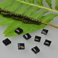 WHITBY JET Beads-over 100 years old, Antique Beads - Free US shipping