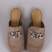 Bamboo Chain Accent Slip On Mule