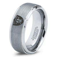 Oakland Raiders Ring Mens Fanatic NFL Sports Football Boys Girls Womens NFL Jewelry Fathers Day Gift Tungsten Carbide 162c