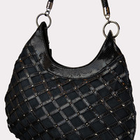 Crosshatch Hobo Bag