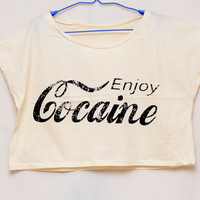 Enjoy Cocaine  Tank Top women Size M