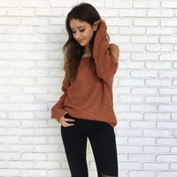 Butter Pecan Knit Sweater in Rust
