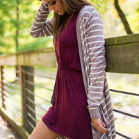 Always & Forever Cardigan, Taupe