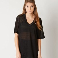 FREE PEOPLE MESH T-SHIRT