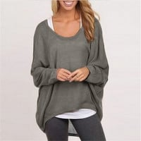 Pullover Sweater Batwing Long Sleeve