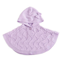 Purple Hooded Poncho - Infant