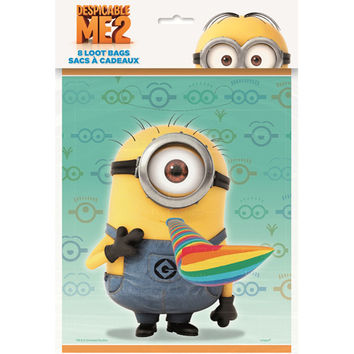 Despicable Me 2 Party Loot Bags [8 Per Pack]