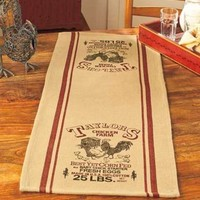 Country Table Runner Taylors Chicken Farm Rustic Country Kitchen Dining Decor