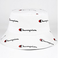 Champion New fashion more letter print couple cap hat White