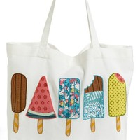 Nordstrom at Home 'Ice Pops' Tote Bag - Ivory