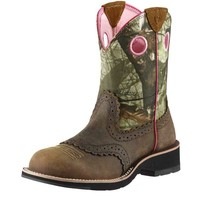 Ariat Women's Fatbaby Cowgirl Boots - Distressed Brown - 10006854