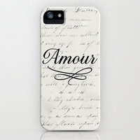 amour - white iPhone Case by her art | Society6