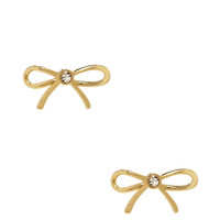 Kate Spade Dainty Sparklers Bow Studs Clear ONE