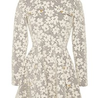 J.W. Anderson Floral Jersey Cloque Skater Dress Off-White