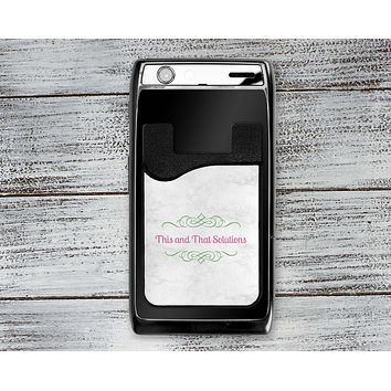 Personalized Cell Phone Caddy | Monogram Phone Wallet | Company Logo