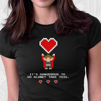 Take This - Geeky Gamer Valentine Shirt 100% Cotton. Mens, womens and kids sizes. A geeky shirt for the one you love.
