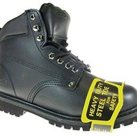 New Men's 605S Oil Resistant Full Leather Heavy Duty Steel Toe Safety Work Boots