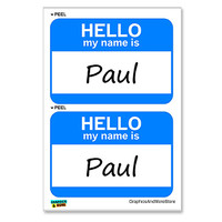 Paul Hello My Name Is - Sheet of 2 Stickers