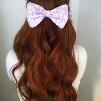 Lilac Lace Bow