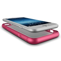 The Hot Pink and Clear Ultra Hybrid Bumper iPhone 6/6s Case