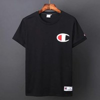 Champion short sleeve T shirt loose round collar classic large Logo for men and women love shirts short sleeve T shirt