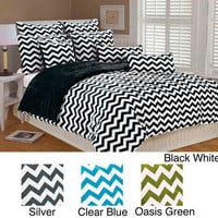 Chevron Microplush 3-piece Comforter Set | Overstock.com