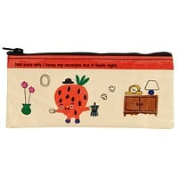 Not Sure Why I Keep My Receipts Recycled Material Cute/Cool/Best Zipper Pencil Case/Pouch/Holder/Pen Bag/Holder