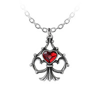 Alchemy Gothic Lucky In Love Pendant Necklace Hearts Spade
