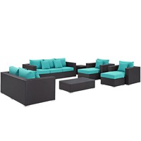 Convene 9 Piece Outdoor Patio Sofa Set EEI-2161