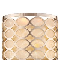 3-Wick Candle Sleeve Nickel Capiz Shell
