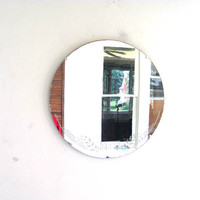 round circle antique wall mirror / hanging mirror