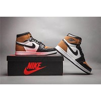Air Jordan 1 Retro Black/brown Basketball Shoes