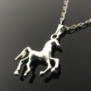 Horse Necklace Charm Necklace Horse Lover Gift