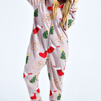 Laura Holly and Gingerbread Print Onesuit