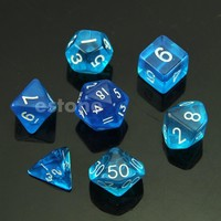 Sided Die D4 D6 D8 D10 D12 D20 MTG RPG D&D DND Poly Dices Board Game Chess GN