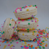 Vanilla Cupcake French Macarons are a full dessert packed into just a couple bites.