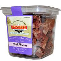 Evanger's Nothing But Natural Freeze-Dried Beef Heart Treats For Dogs & Cats
