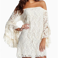 Women Lace Half Trumpet Sleeves White Two-piece Dress Sexy Fashion Dresses Clubwear For Summer Autumn
