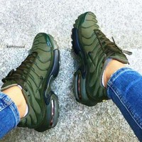 NIKE Air Max Plus Tn Ultra Army Green Men Wave Sneakers Women Men Sports Shoes