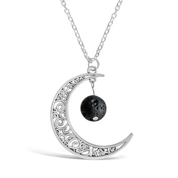Crescent Moon Aromatherapy Necklace