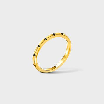 Spaced Pave Black CZ Band Ring