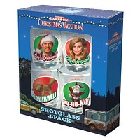 Christmas Vacation - Scenes 4 Pack Shot Glass Set