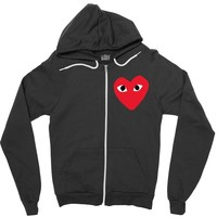 comme des garcons play Zipper Hoodie