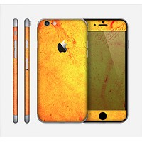 The Orange Vibrant Texture Skin for the Apple iPhone 6