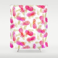 Pineapple Party Shower Curtain by Noonday Design
